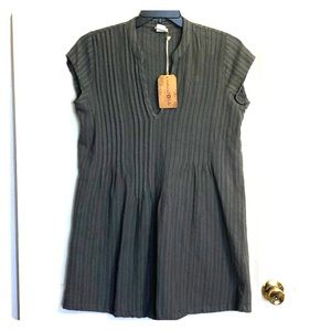 Natural Life V neck grey dress-tunic length